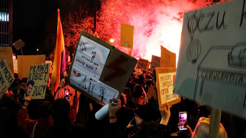 Protesty w Warszawie 28 października 2020