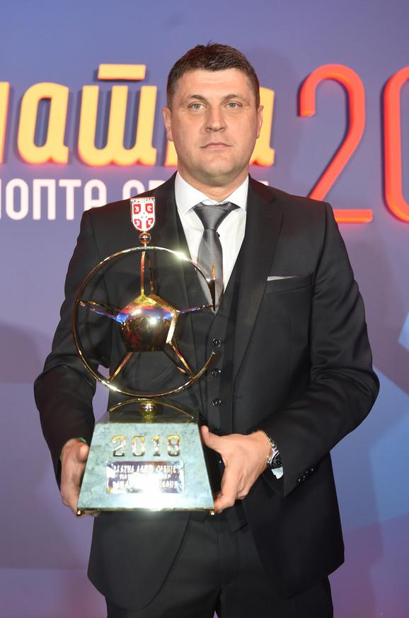 Vladan Milojević - drugi put u nizu dobitnik priznanja za najboljeg fudbalskog trenera Srbije