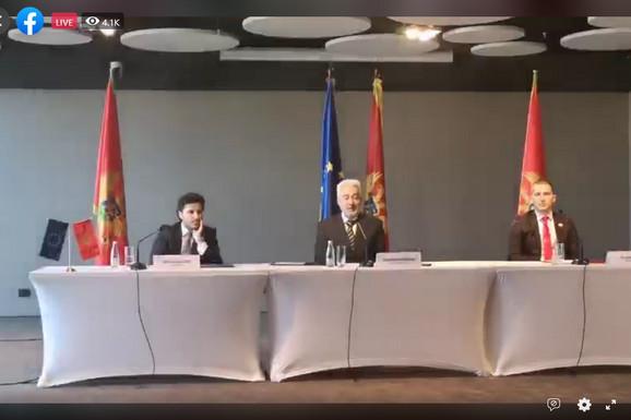 """""""PROTIV RUŠENJA VLADE I NOVIH IZBORA"""" Krivokapić, Bečić i Abazović izdali zajedničko saopštenje"""