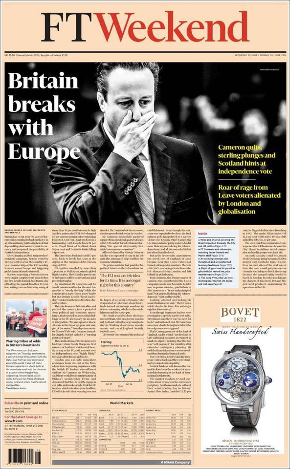 "Financial Times Weekend: ""Brytania zrywa z Europą"""