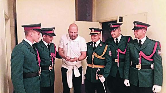 Aleksandar Đorđević sa gardistima