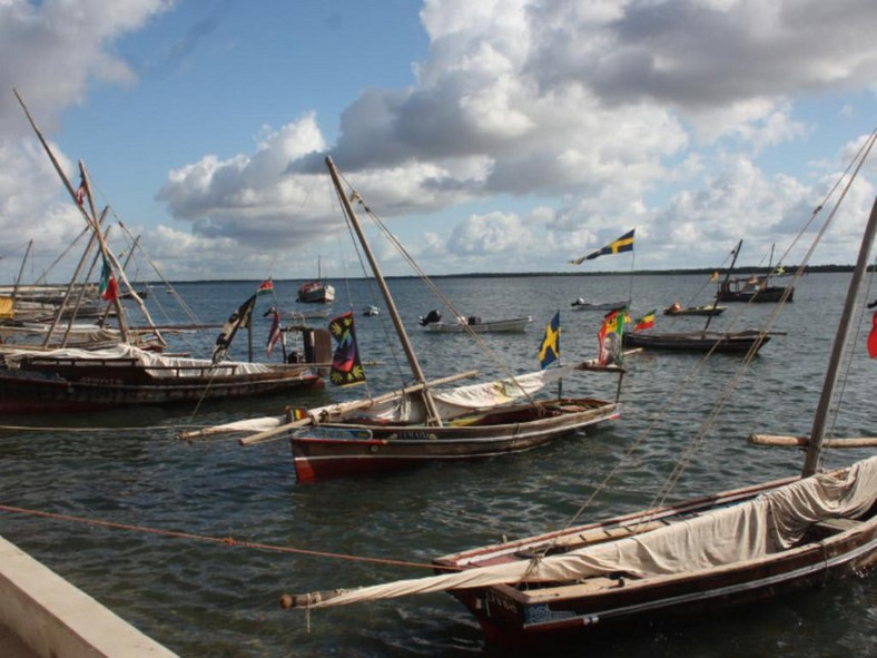 Boats at the Lamu Island.