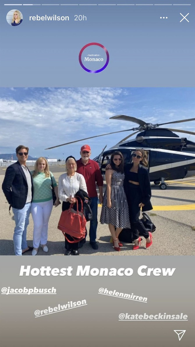 Rebel sa dečkom i kolegama iz Holivuda u Monte Karlu: Helen Miren sa suprugom (u sredini ) i Kejt Bekinsejl (desno)