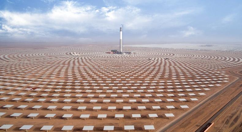 Noor Ouarzazate solar farm in Morocco.