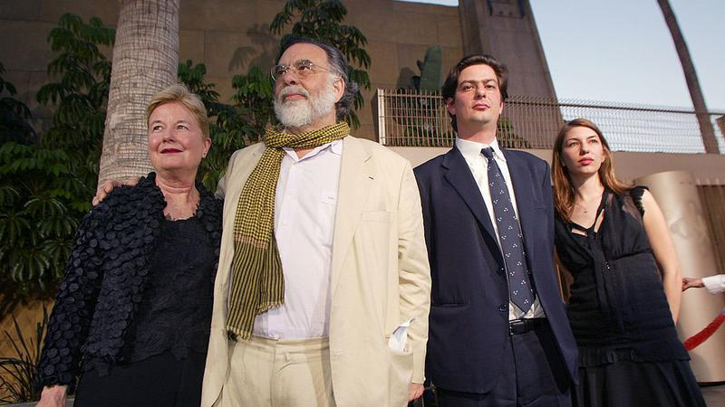 Eleanor i Francis Ford Coppola z dziećmi: Romanem i Sofią