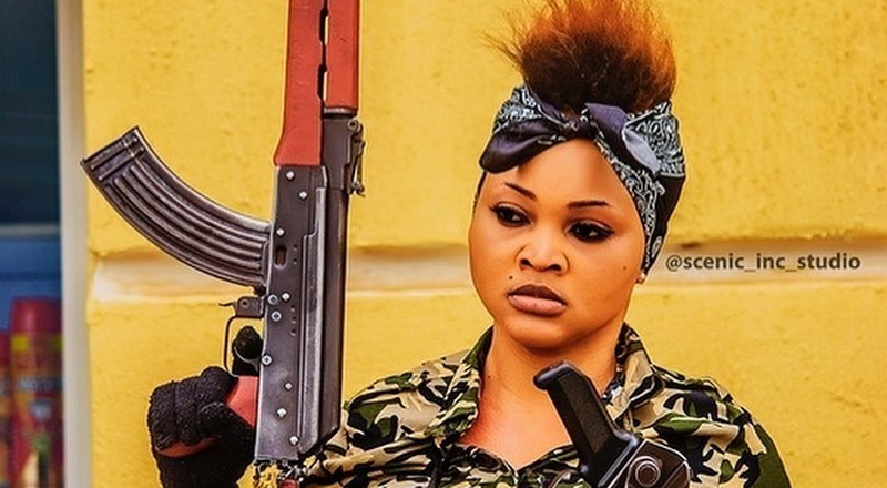 Mercy Aigbe ends 2019 with a dual role in '77 Bullets' [Video]