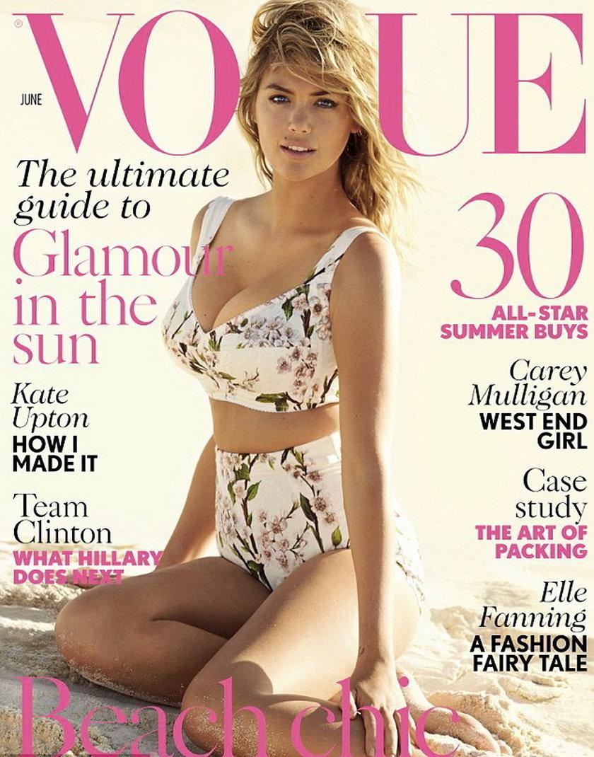 """Kate Upton na okładce """"Vogue'a"""""""