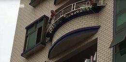 Szokujące nagranie! Dziecko spadło z 5. piętra