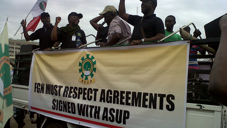 ASUP members in one of the many protests...