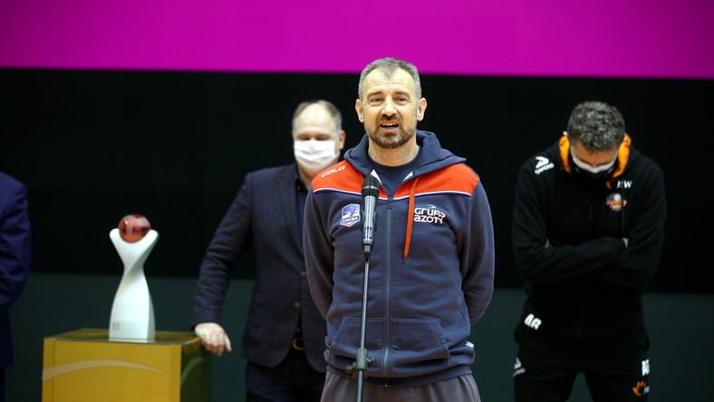 Trener drużyny Grupa Azoty ZAKSA Kędzierzyn-Koźle Nikola Grbić podczas konferencji prasowej dotyczącej turnieju finałowego TAURON Puchar Polski mężczyzn w siatkówce