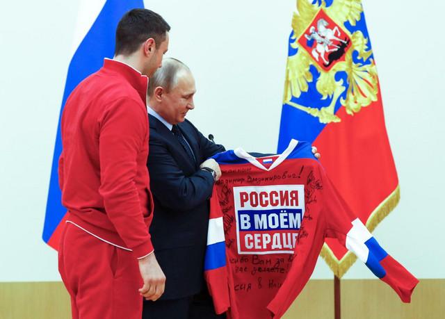 Vladimir Putin na prijemu za ruske olimpijce