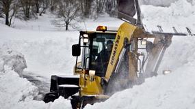 Bornholm zasypany śniegiem
