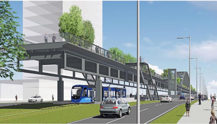Most će biti isečen, popet na viši nivo i pretvoren u pešačku biciklističku zonu