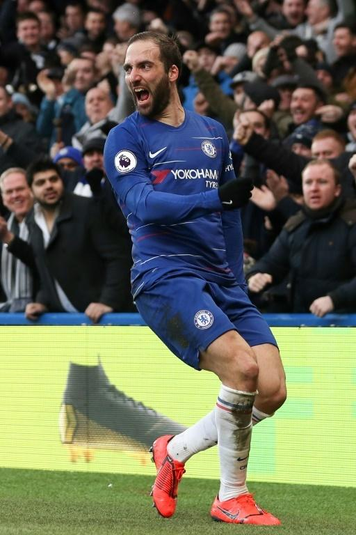 Instant impact: Chelsea need Gonzalo Higuain's goals to secure a top-four finish in the Premier League