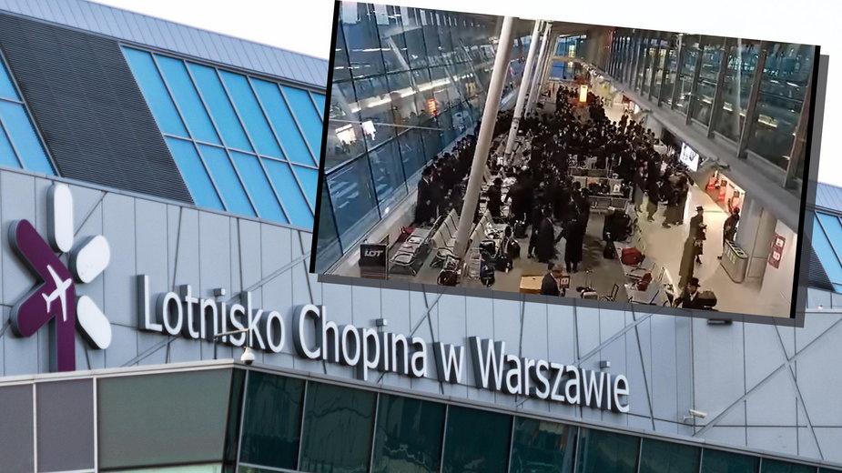 Grupa Żydów łamała obostrzenia na lotnisku Chopina. Reakcja rzecznika