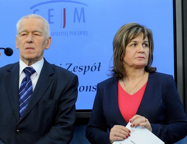 Marszałek senior Kornel Morawiecki i Małgorzata Zwiercan