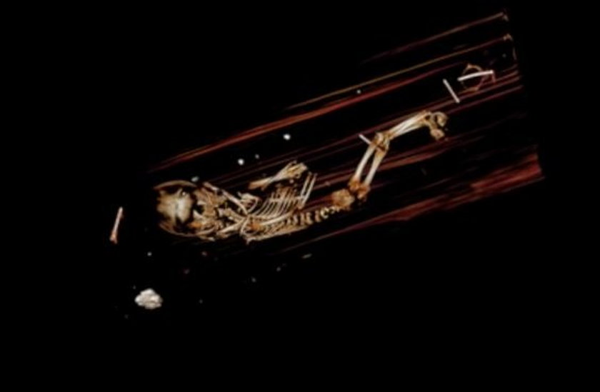Zagadkowe znalezisko zostało odkryte podczas skanowania sarkofagu