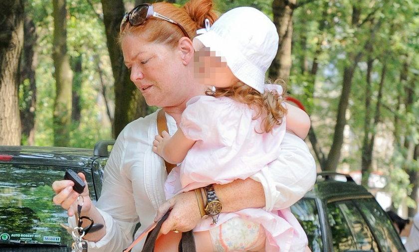 Katarzyna Dowbor z wnuczką
