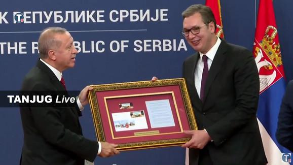 Erdogan, Vučić, Markice, Razmena, Srbija, Poseta