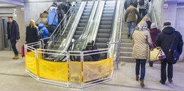 Awaria schodów ruchomych na Dworcu Zachodnim. Nie działają od miesiąca!