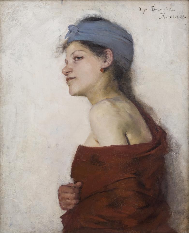 Olga Boznańska, Portret kobiecy (Cyganka), 1888, olej na płótnie, fot. MNK