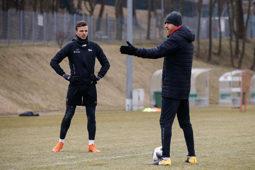 Pilka nozna. Ekstraklasa. Lechia Gdansk. Trening. 28.03.2018