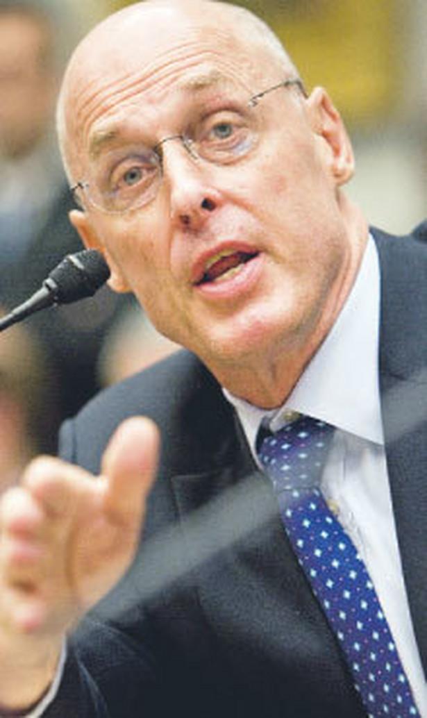Henry Paulson, sekretarz stanu USA, przygotował plan wpompowania w amerykański system finansowy 700 mld dol. państwowej pomocy. Od kilku dni trwają spory w Kongresie. Fot. Bloomberg