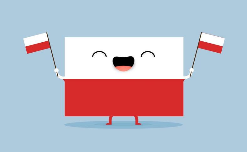 Polska flaga z uśmiechem