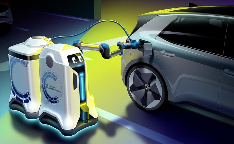 Volkswagen wymyślił robota do ładowania akumulatorów aut elektrycznych