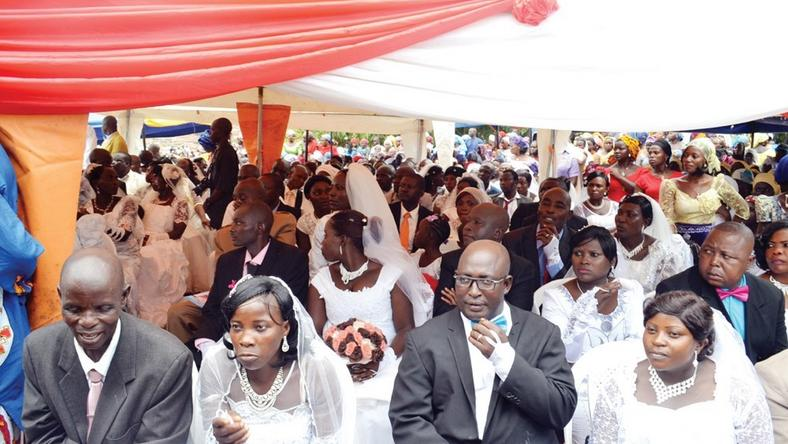 Mass wedding in Jos, Plateau state.