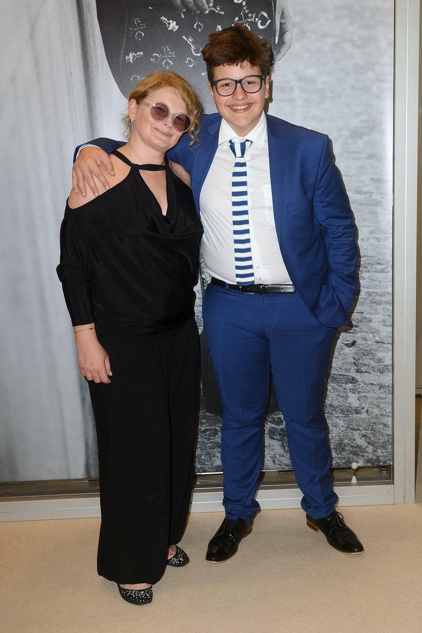Dominika Ostałowska z synem Hubertem
