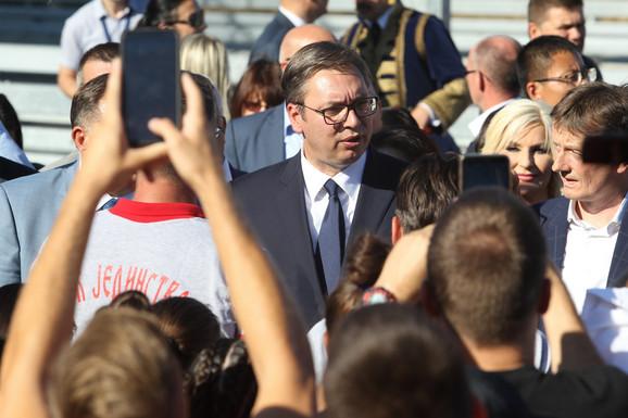 Autuput Miloš Veliki, otvaranje Aleksandar Vučić