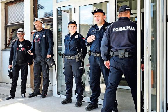 Ispred sudnice dežurao je i veći broj policajaca