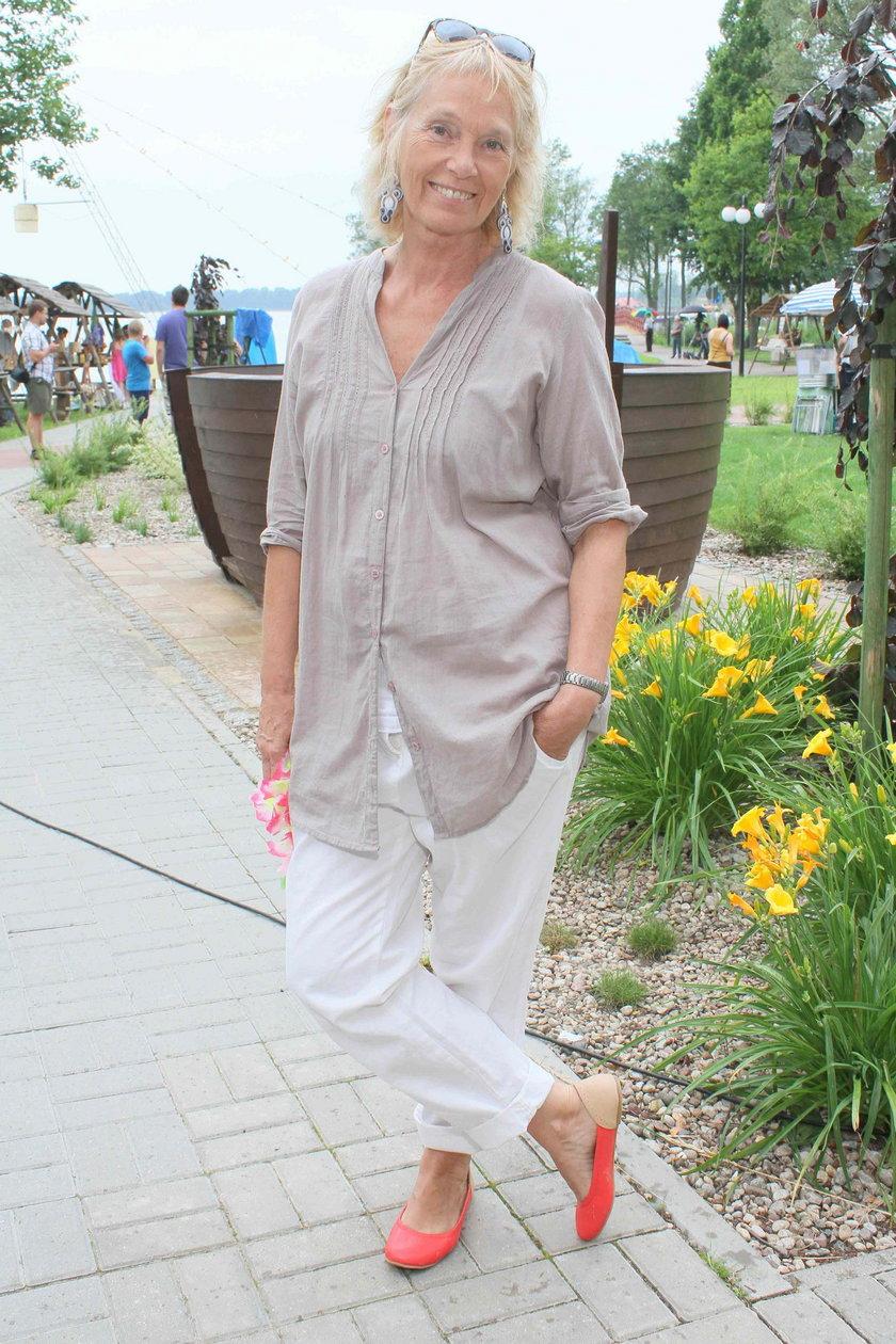 Małgorzata Braunek w Ostródzie w 2012 roku