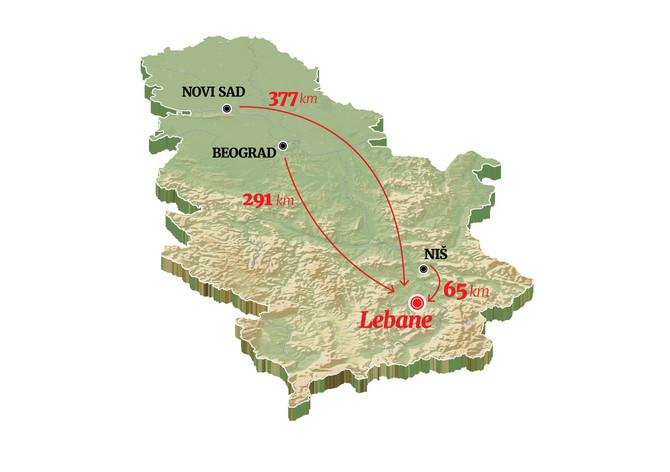 Gradić Lebane pripada Jablaničkom okrugu