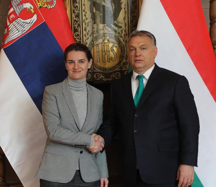 Ana Brnabić, Mađarska, Viktor Orban, Zajednička sednica