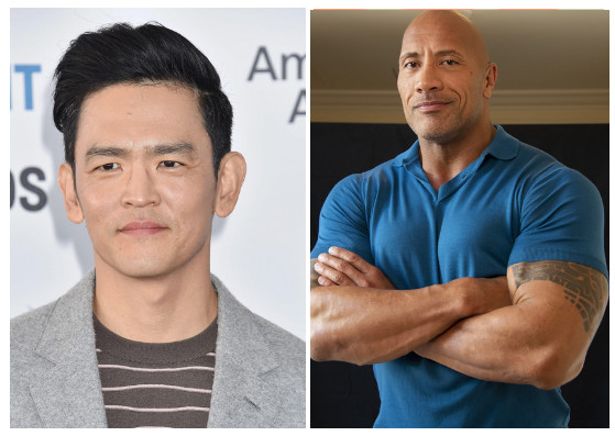 John Cho fot. Mayer/face to face/FaceToFace/REPORTER & Dwayne Johnson fot.  USA TODAY Network/Sipa USA/East News