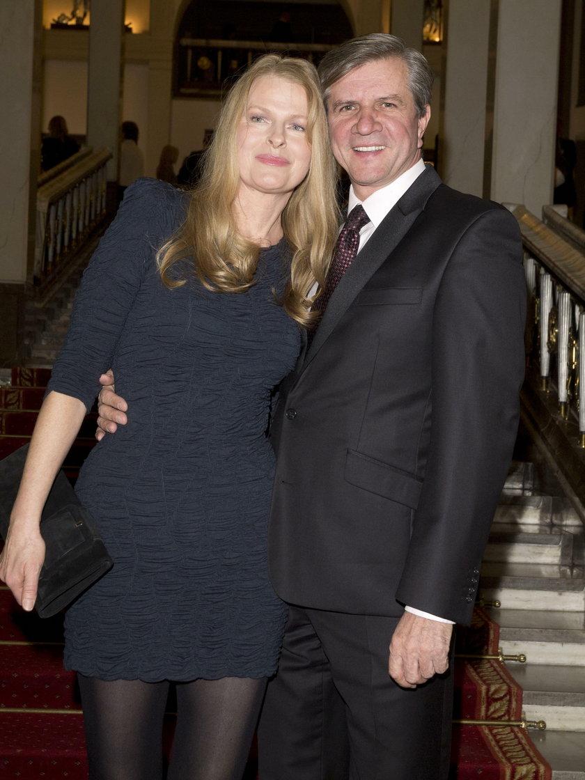 Zygmunt Chajzer z żoną