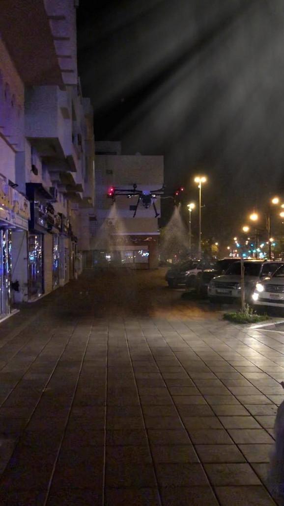 Dezinfekcija ulica dronovima u Abu Dabiju