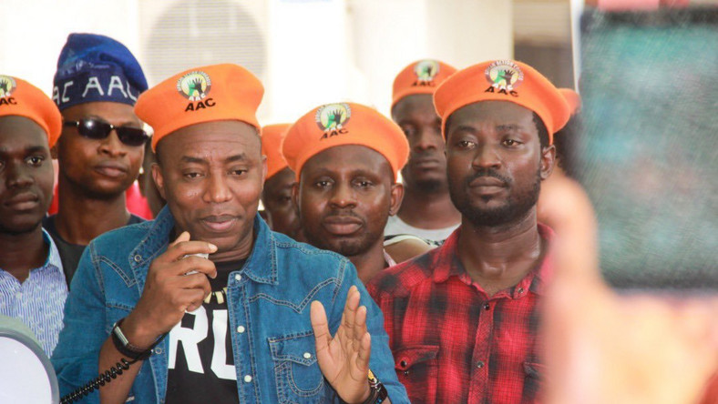 Omoyele Sowore has spent over three months in the custody of the DSS. [Twitter/@YeleSowore]