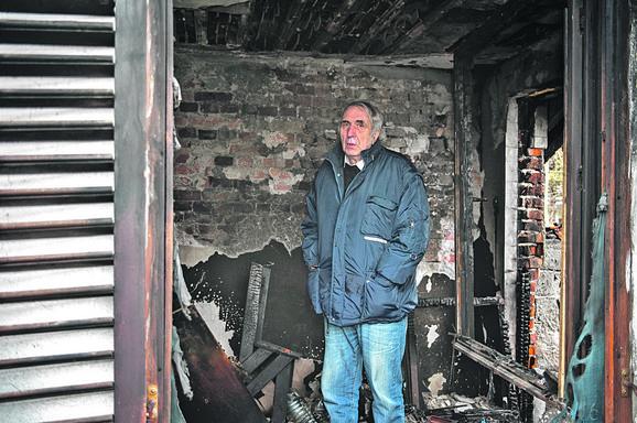 Novinar Jovanović je jedva izvukao živu glavu iz požara