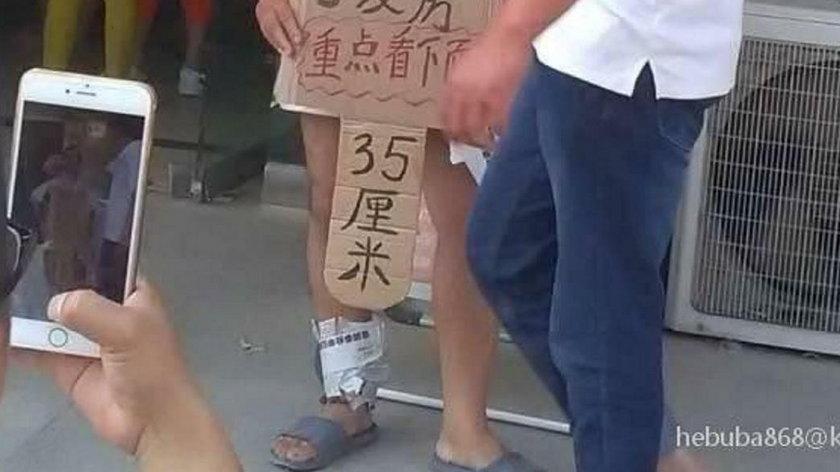 Ten Chińczyk próbował znaleźć żonę w bardzo oryginalny sposób