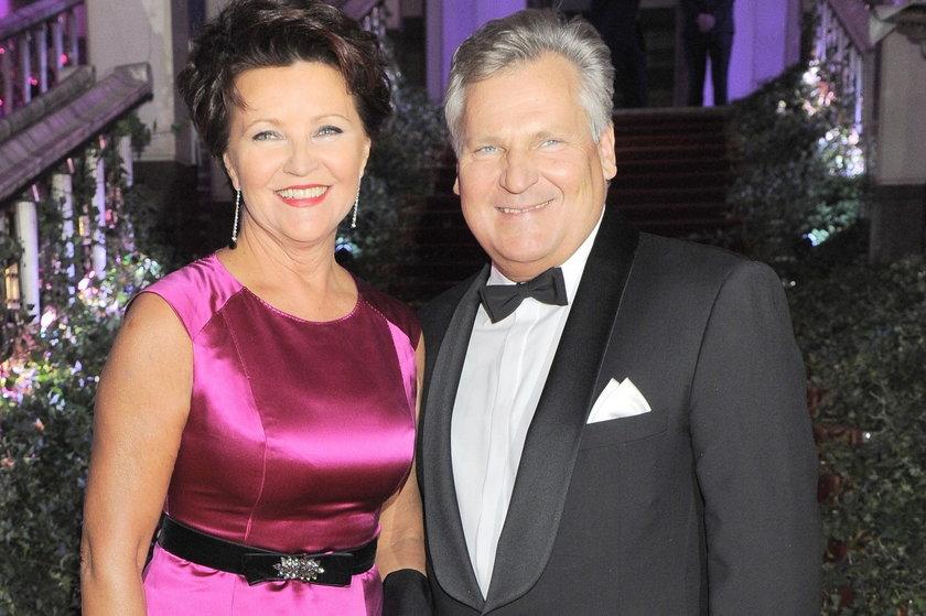 Kwaśniewski z żoną