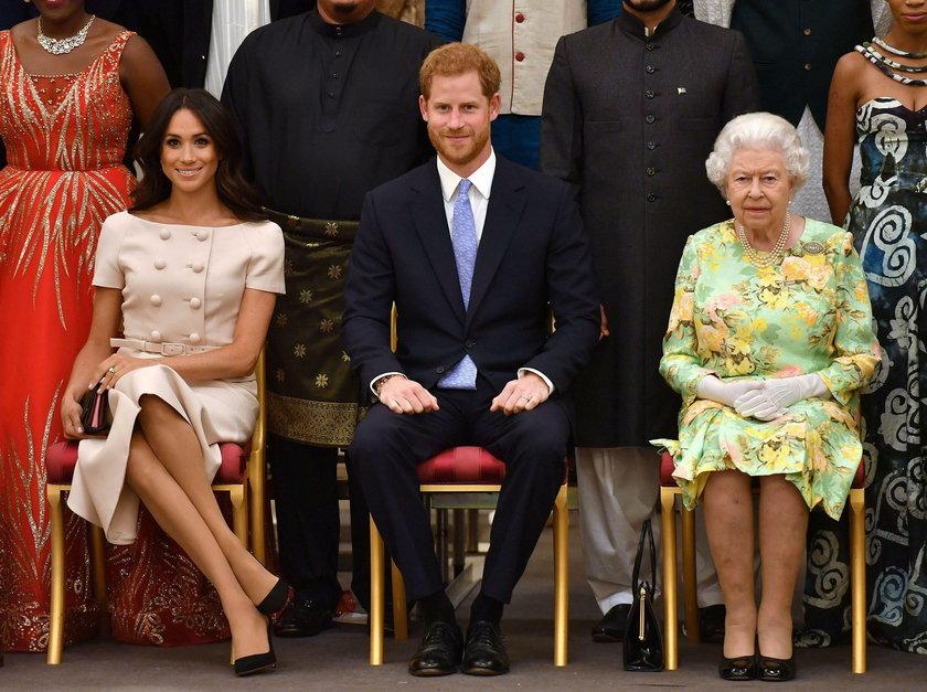 Meghan Markle, książę Harry, królowa Elżbieta
