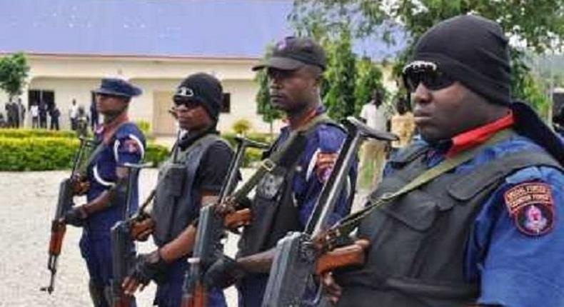 Officials of the NSCDC. (Punch)