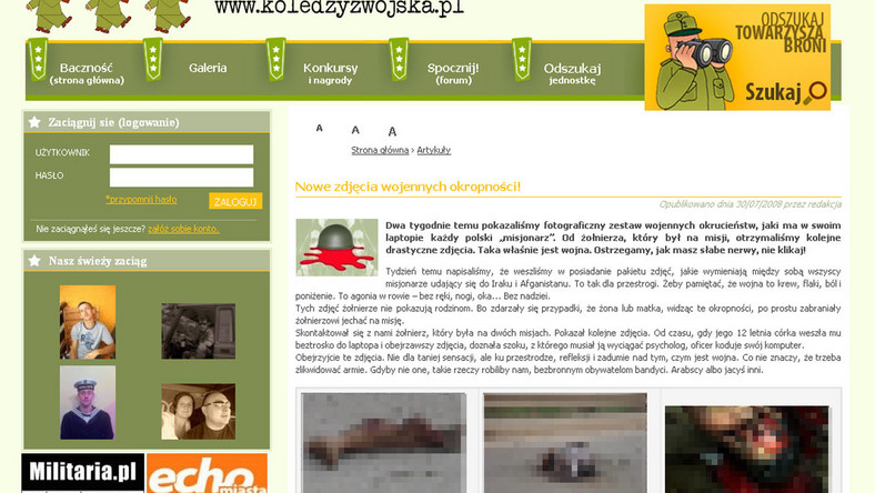 Polscy żołnierze zamieszczają w internecie makabryczne zdjęcia