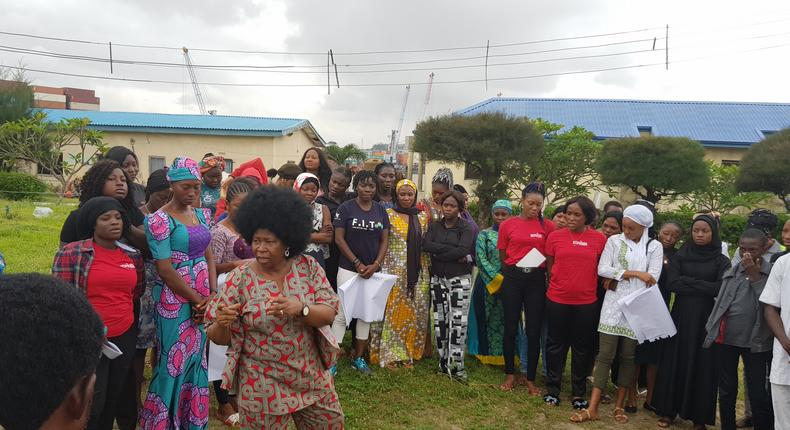 ActionAid Nigeria Country Director, Ene Obi, with the participants at a week-long workshop in Lagos