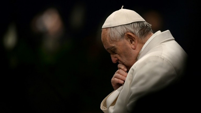 Pope Francis spoke of shipwrecks and abuse scandals in his Good Friday prayer