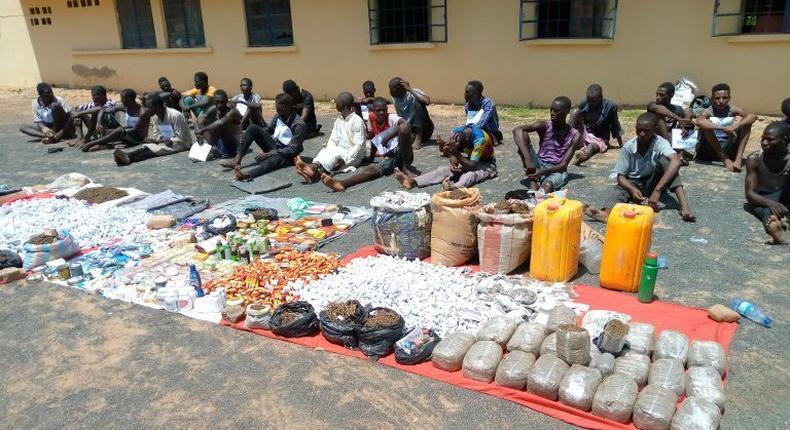 Repentant kidnapers surrender arms in Adamawa. [NAN]