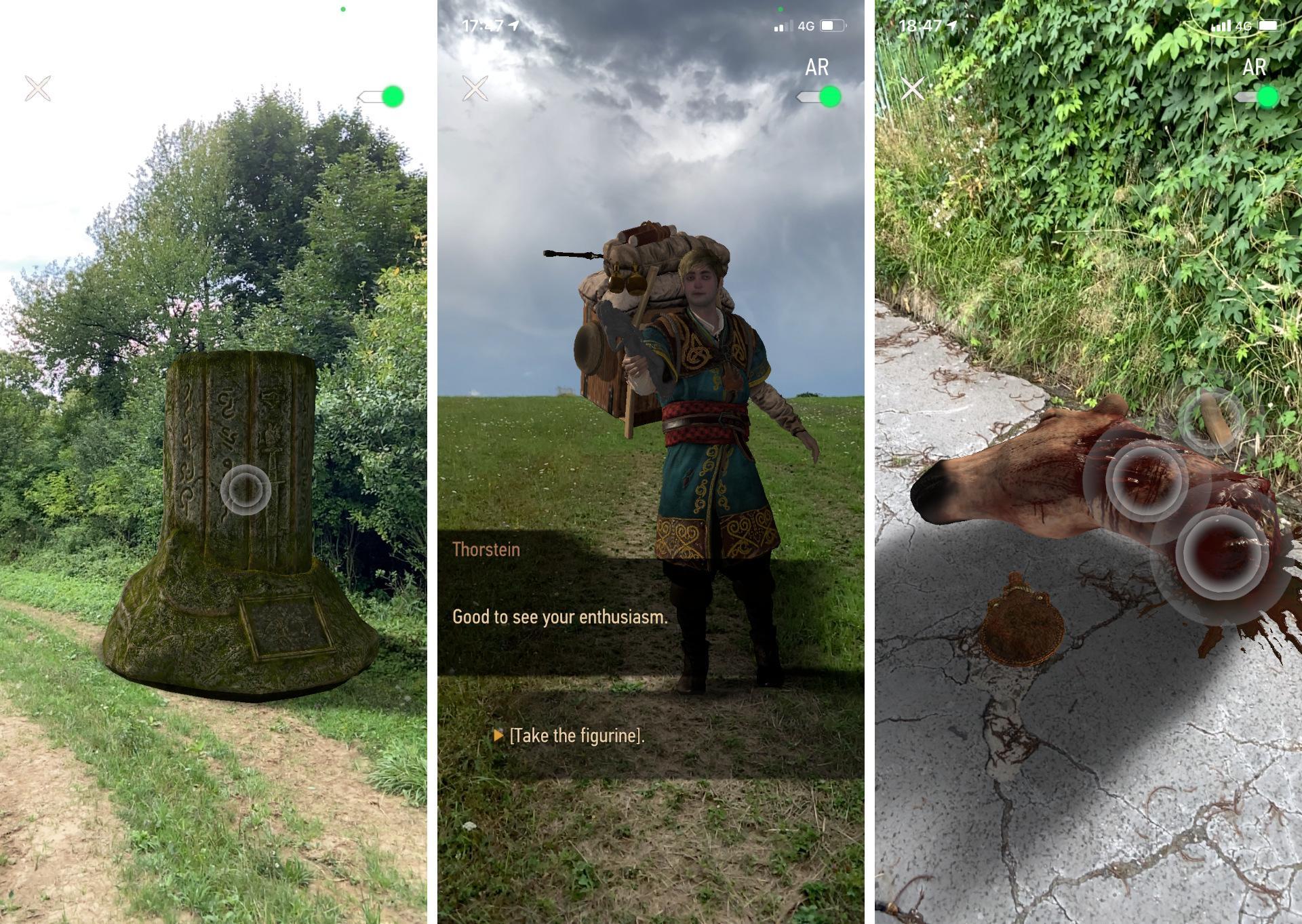 Rozšírená realita zhmotní herné objekty či postavy v reálnom svete. Áno, aj také veci, ako je konská hlava.